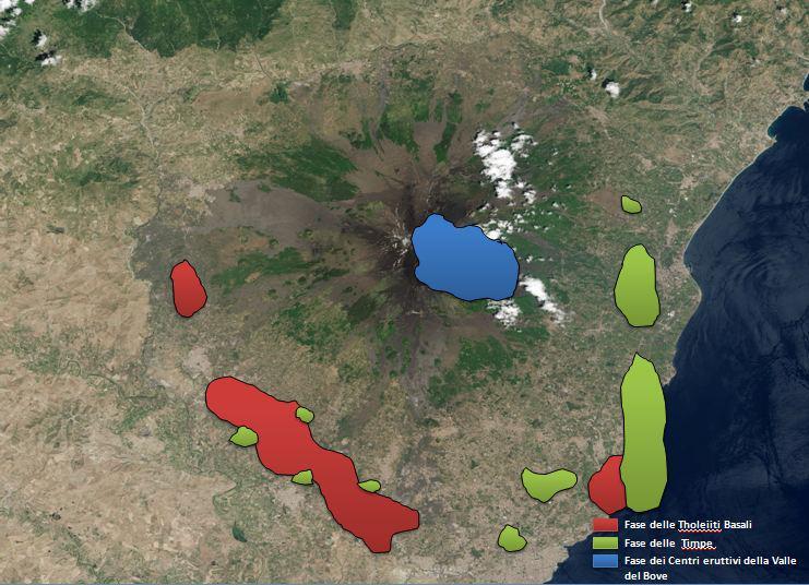 Guide Vulcanologiche Etna - Storia geologica dell'Etna - Fasi Evolutive