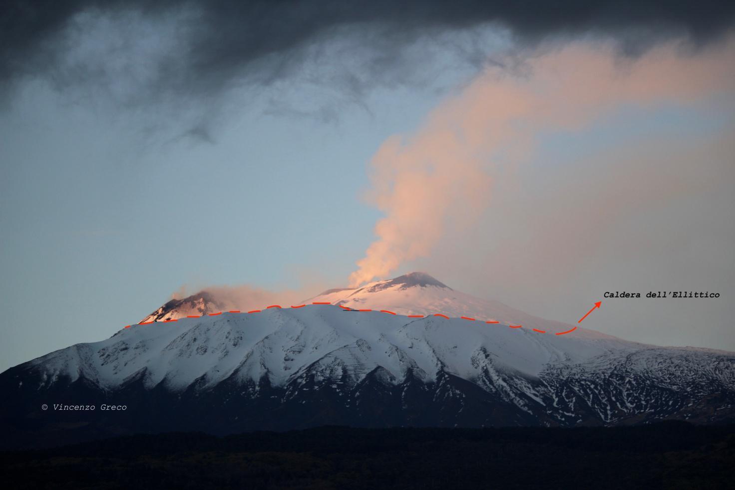 Guide Vulcanologiche Etna - Storia geologica dell'Etna - Caldera dell'Ellittico