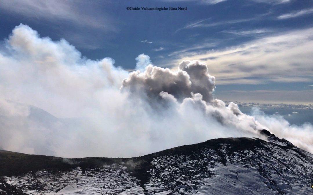 Aggiornamento – attività eruttiva dell'Etna Gennaio 2018