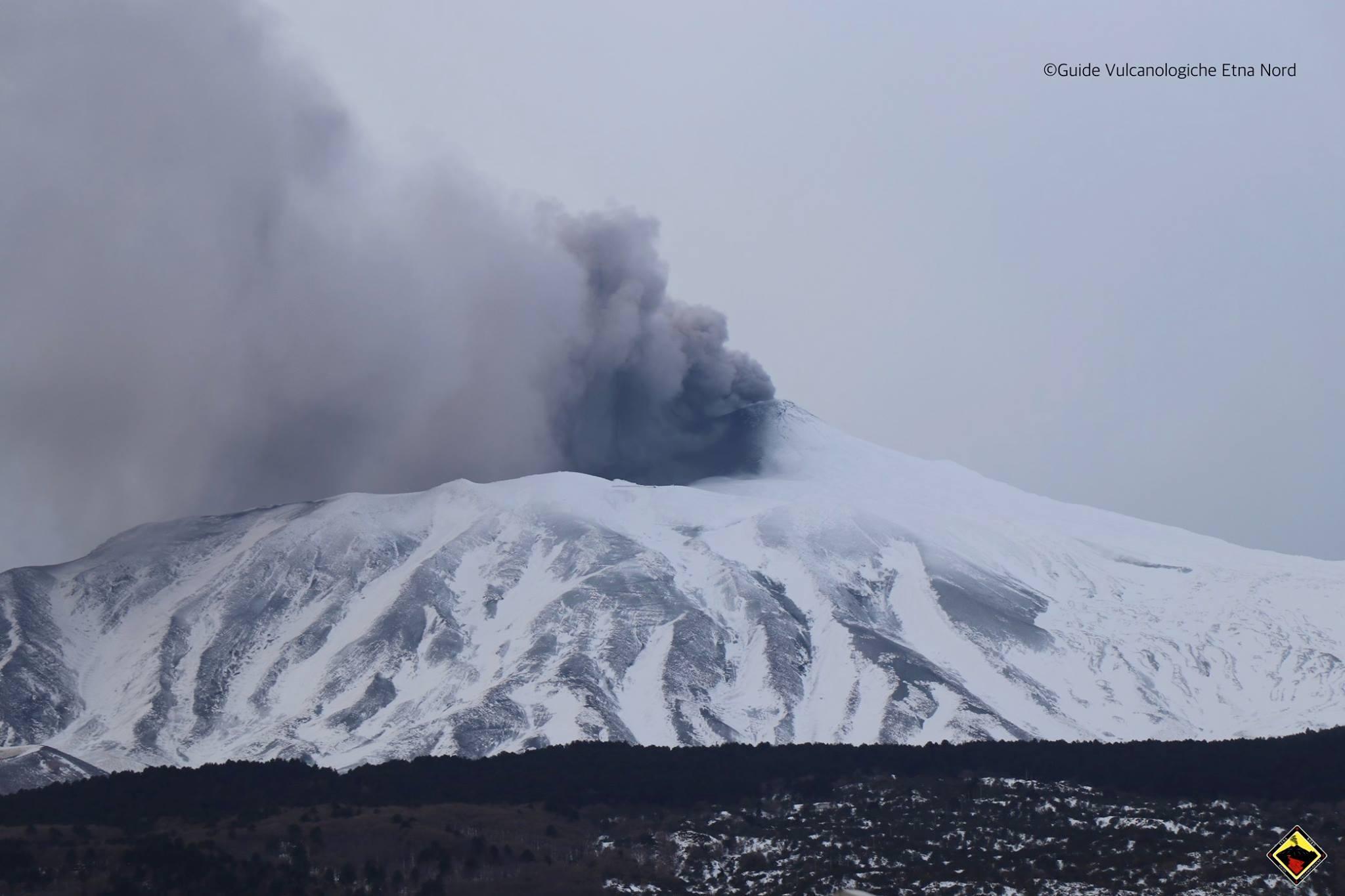 Aggiornamento – Stato dell'attività eruttiva dell'Etna 11 Gennaio 2019
