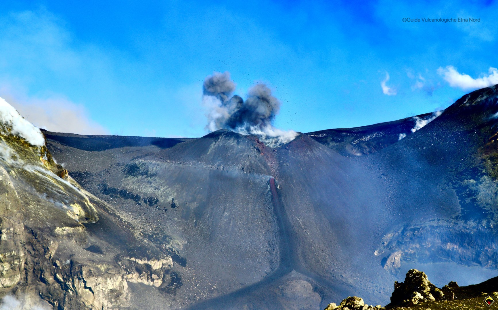 Continua l'attività alla Voragine del Cratere Centrale – Gennaio 2020