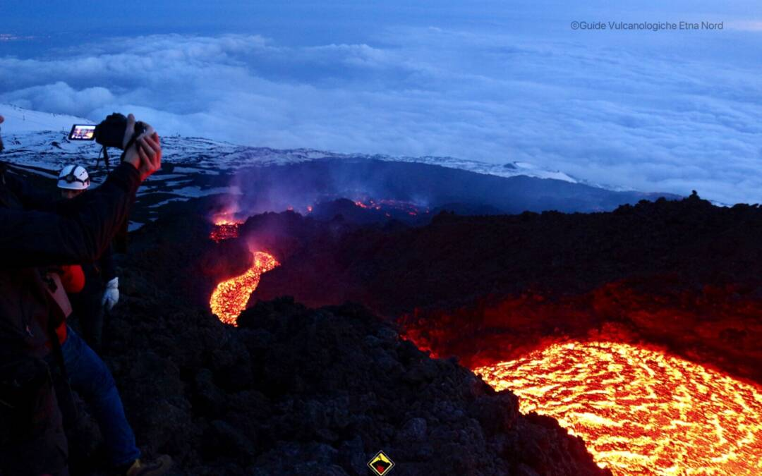 Escursione sull'Etna : visita alle colate di lava